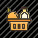 beverage, cake, cookies, drink, food, fruit icon