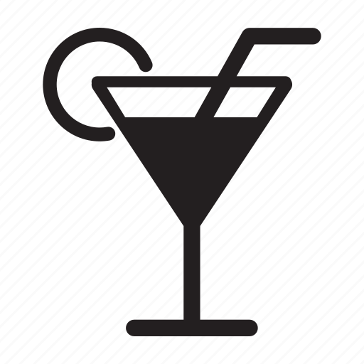 Cocktail, drink, food, glass, martini, straw icon | Icon ...