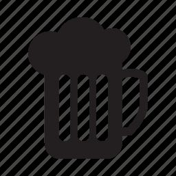 bar, beer, foam, food, glass icon