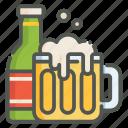 beer, alcohol, pint, bottle