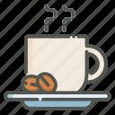 coffee, hot, coffee beans, mug