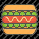 hotdog, fast food, sandwich, bread