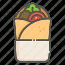 kebab, meat, food, vegetable