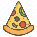 pizza, italian, slice, italian food