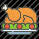 roast, chicken, turkey, thanksgiving