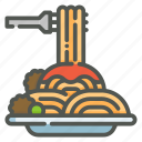 spaghetti, italian food, pasta, restaurant