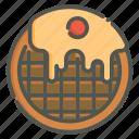 waffle, belgian, pastry, dessert