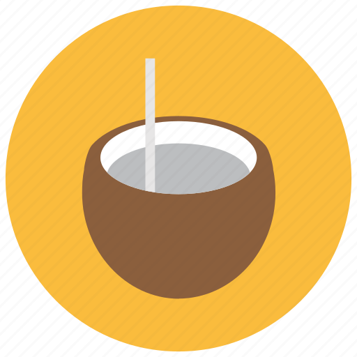 beverages, coconut, drink, holiday, tropical, vacation icon