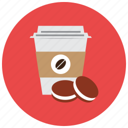beverages, cafe, coffie, container, cookies, warm icon