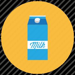 beverages, carton, drink, fridge, kitchen, milk icon