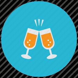 beverages, celebrate, drinks, glasses, toast icon