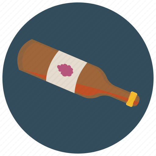 almost, beverages, bottle, empty, grapes, wine icon