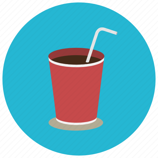 beverages, cafe, coffee, cup, drink, straw, warm icon