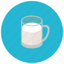 beverages, cup, drink, healthy, milk icon