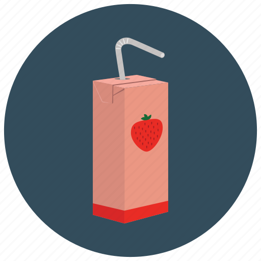 beverages, carton, juice, lunch, pack, school, straw icon