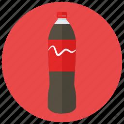 beverages, bottle, large, refreshing, soda icon