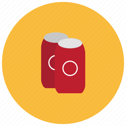 beverages, cans, drink, refreshing, soda, tin icon