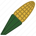 corn, food, fruit, sweet, sweetcorn icon