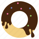 chocolate, dessert, donut, sweet icon