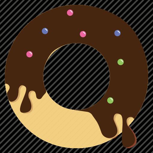 chocolate, dessert, donut, sweet icon