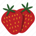 fruit, red, strawberry, sweet icon