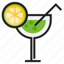 color, drink, fresh, juice, lemon, outline icon