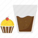 cake, cupcake, drink, food, muffin icon
