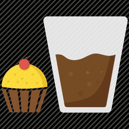 cake, cupcake, drink, food, muffin icon