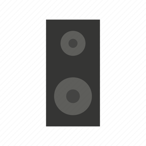 audio, media, music, network, social, sound, woofer icon