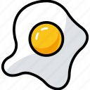 breakfast, egg, egg frying, food, fry egg icon