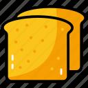 bread, breakfast, refreshment, sandwich, toast icon