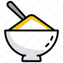 boiled rice, cooked rice, cuisine, food, rice icon