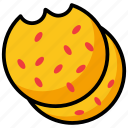 bakery food, biscuits, cookies, cookies bite, snacks icon
