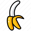 banana, fibre fruit, food, fruit, healthy diet icon