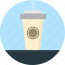 coffee cup, disposable, drink, hot, lid, served, takeaway icon