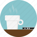 brewed, coffee, cup, mobile, served, smartphone, steam icon