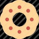 baked, donut, food, glaze, icing, ring-shaped, sprinkle icon