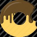 baked, bite, doughnut, fried, glaze, icing, snack icon