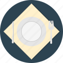 food, fork, knife, plate, serve, spoon, tableware icon