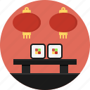 bite-sized, piece, restaurant, seafood, served, sushi, table icon