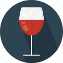 alcohol, alcoholic, beverage, fermented, glass, served, wine icon