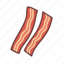 bacon, cooking, fastfood, fat, food, grill, restaurant icon
