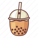 bubble milk tea, milk, sweet, pearl, taiwanese, food, drink