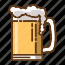 beer, beverage, drink, food, glass icon