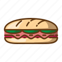 beverage, fast food, food, sandwich icon