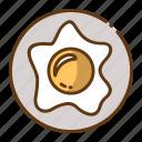 beverage, egg, food, fried