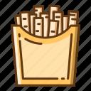 beverage, food, french, fries, potato, snack icon
