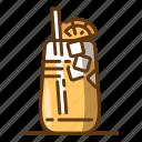 beverage, drink, food, glass, ice, orange, tea icon