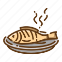beverage, fish, food, fried icon