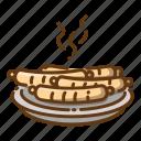 beverage, fast food, food, grilled, meal, sausage